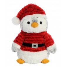 PomPom Penguin Santa 14In