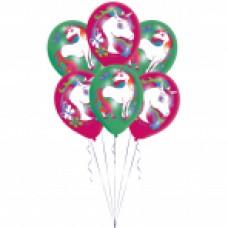 BALLOON:Unicorn 6pk 11