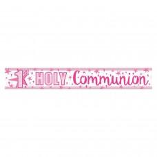 Banner 2.7m Holog Pink Comunon