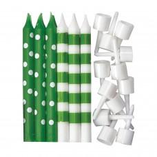 Candle Dots & Stripe - Kiwi Gr