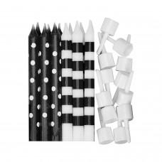 Candle Dots & Stripe - Black