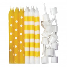 Candle Dots & Stripe - Yellow