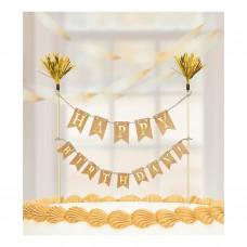 Cake Pick Banner - Gold