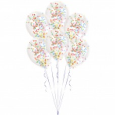 BALLOON 6pk with Confetti Asst