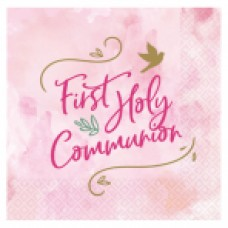 1st Holy Communion Lunch Napkin Pink