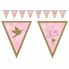 1st Holy Communion Letter Banner Pink