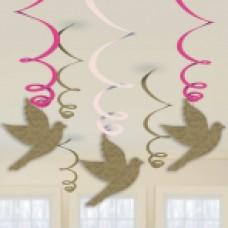 First Holy Communion Pink Swirl Decs