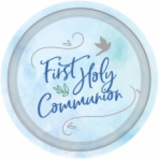 First Holy Communion Blue Paper Plates