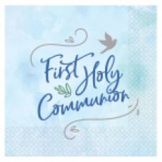 1st Holy Communion Lunch Napkin Blue