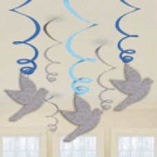 First Holy Communion Blue Swirl Decorations