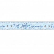 First Holy Communion Blue Foil Banner