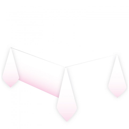 1st Birthday Pink Paper Tablecovers 1.2m x 1.8m - 6 PC