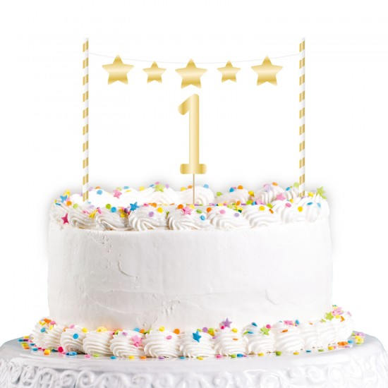 1st Birthday Cake Toppers - 6 PC