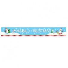 Joyful Snowman Foil Banner