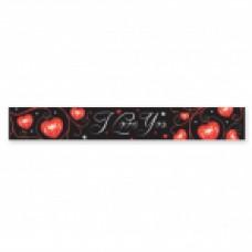 I Love you foil banner