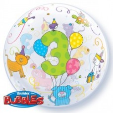 22 INCH SINGLE BUBBLE AGE 3 CUDDLY PETS