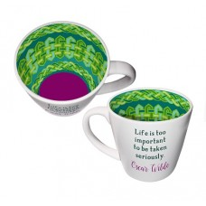 """""LIFE IS TOO IMPORTANT TO BE TAKEN SERIOUSLY"""" ISO MUG"