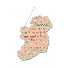 'SUCCESS CONSISTS'' PLAQUE