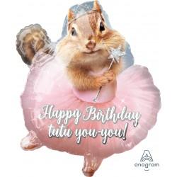 JrShape:Avanti Ballerina Birthday Chipmunk