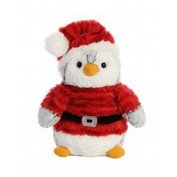 PomPom Penguin Santa 9In