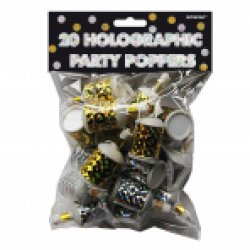 20 Holographic Foil Poppers