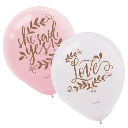 """BALLOONS: 6pk 11"""" Love and Leaves"""