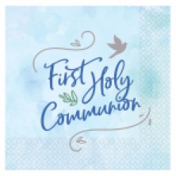 1st Holy Communion Lunch Napkin Blue