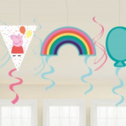 Peppa Pig swirl decorations