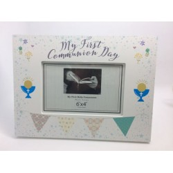 COMMUNION TROVE PHOTO FRAME LANDSCAPE Boy
