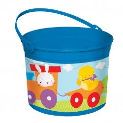 Blue Plastic Easter Bucket