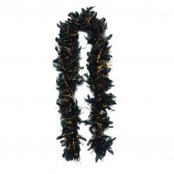 Black & Gold Tinsel Boa