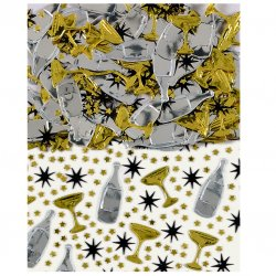 Black, Gold & Silver Champagne Confetti