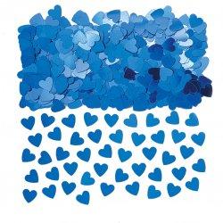 Blue Sparkle Hearts Confetti