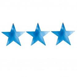 Blue Foil Star Cutouts 12.7cm