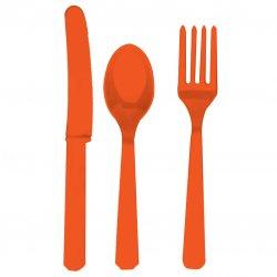 CUTLERY ASST pk24:orange