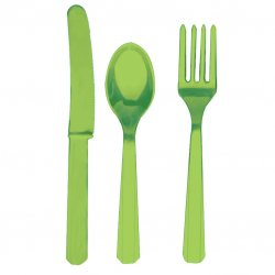 CUTLERY ASST pk24:kiwi green