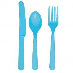 CUTLERY ASST pk24:caribbn blue