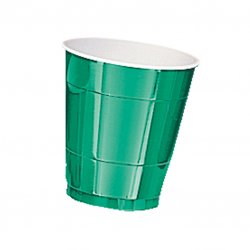 CUP 266ml s/c:festive green