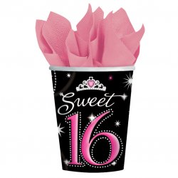Sweet 16 Sparkle Paper Cups 266ml