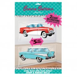Rock & Roll Classic Cars Scene Setter
