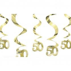 DEC HANG swirl:GOLDEN ANNIVERS