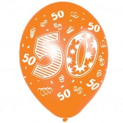 Happy 50th Birthday Latex Balloons