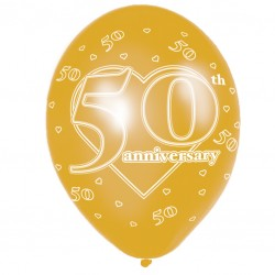 50th Anniversary Latex Balloons