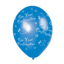 Balloons 'On your confirmation' Blue