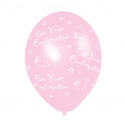 Balloons 'On your confirmation' Pink Latex Ballooj
