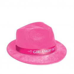 GNO FEDORA HAT PINK WITH MSG
