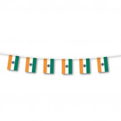 PPP INDIA Bunting Flag Lge 7m