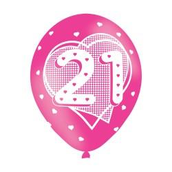 BALLOON  pk6 27cm Age 21 Pink