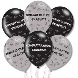 BALLOON  pk6 27cm Congrats Grad