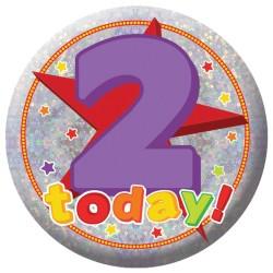 Badge Sml HoloG Happy 2nd BD